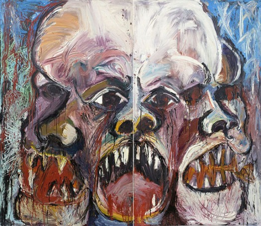 Scream0A19660AOil-on-canvas0ADiptych0A121-x-142-inches0Aoverall